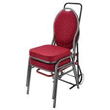 chaise pour doublet diable transporteurs de chaises empilables pour réception