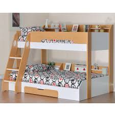 Beech Bunk Beds Bunk Bed In Beech And White Bunk Beds Cuckooland