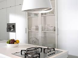 hotte de cuisine blanche hotte cuisine ilot central 3 en acier inox laqu233 blanc pour la