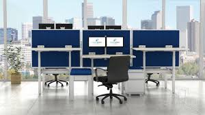 Adjustable Height Office Desk by Xpand Adjustable Height Benching By Open Plan Systems Direct