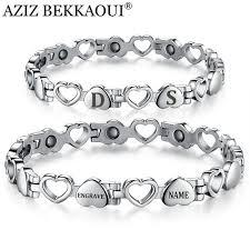 steel stainless magnetic bracelet stainless images Healthy magnetic bracelets bangles stainless steel heart shape jpg