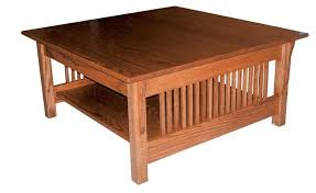solid oak mission style coffee table prairie mission square coffee table incredible style for 4