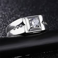 square silver rings images V ya 925 sterling silver ring ringent big size wide square finger jpg