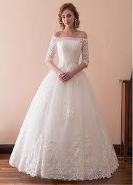 a line wedding dresses buy discount in stock wonderful tulle the shoulder neckline 3