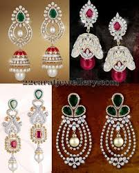 heavy diamond earrings 99 best diamond images on indian jewelry jewellery