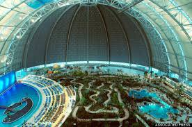 tropical island paradise this massive aircraft hangar in germany is actually a tropical