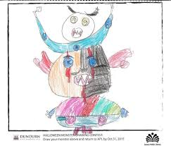 philippa dowding halloween draw your monster contest