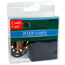 battery operated candy cane lights 18 candy cane led lights invisilite 7 ft