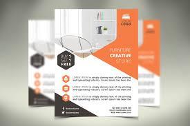 furniture flyer flyer templates creative market