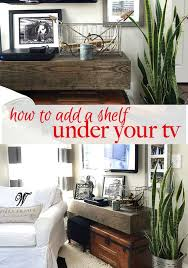 Floating Wood Shelves Diy by Best 25 Floating Shelf Under Tv Ideas On Pinterest