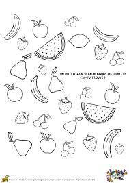 Coloriage jeux fruits sur Hugolescargotcom