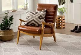 Chair And A Half With Ottoman Sale Dwellstudio Hans Leather Armchair U0026 Reviews Dwellstudio