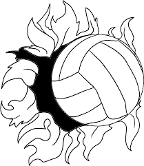 9 best images of printable volleyball designs volleyball images