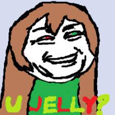 U Jelly Meme - troll face u jelly