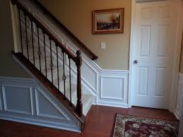 Dining Room Wainscoting At Window Height Hall And Stairway Trim Work Low Maintenance Shadow Boxes All