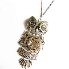 steampunk owl necklace images Steampunk owl mechanical watch movements gears brooch pins pendant jpg