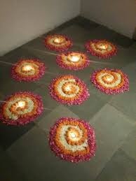 Ideas For Diwali Decoration At Home Flower Spirals For Any Occasion Diwali Diyas Rangoli
