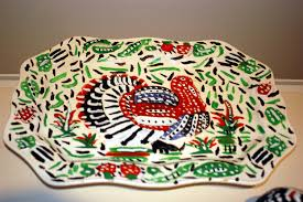painted platter painted turkey platter ogden museum of southern
