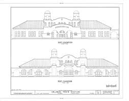 Railroad Style Apartment Floor Plan File East And West Elevation Atlantic Coastline Railroad Station