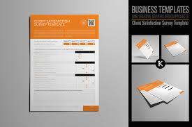 client satisfaction survey template templates creative market