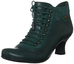 womens boots green leather hush puppies s vivianna green leather mid heel ankle boots