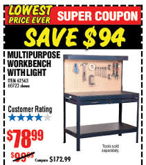 Workbench With Light Harbor Freight Special Sale 76 Off And More Milled