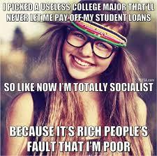 Liberal College Girl Meme - generation snowflake memes bruce on politics