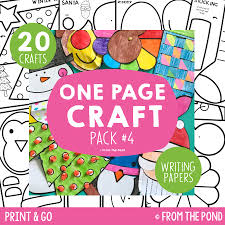 one page craft pack 4 frog spot