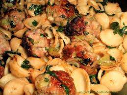broccoli rabe and sausage meatballs with orecchiette a food