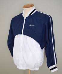 nike windbreaker vintage 90s nike blue white windbreaker jacket mens m what u0027s it