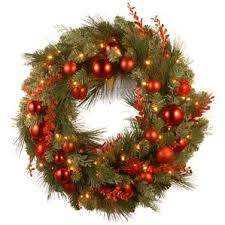 battery operated wreath artificial christmas wreaths you ll wayfair