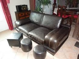 bois et chiffon canapé canape cuir noir bois chiffons pas cher meubles meyzieu