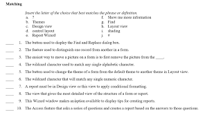 theme question definition solved insert the letter of the choice that best matches