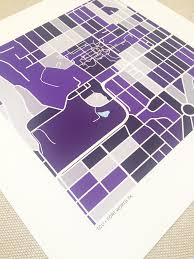 Tcu Parking Map Texas Christian University Tcu Map Print Fort Worth Tx U2014 Grid