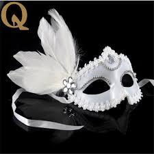 white masquerade masks for women online get cheap feathers white masquerade masks aliexpress