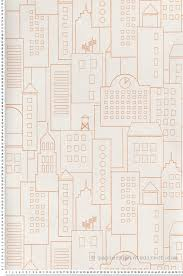 chambre de york papier peint immeubles orange collection dwell studio de york by