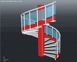 Spiral Stair Handrail Spiral Staircase 3d With Handrail Rail And Posts In A Few Minutes