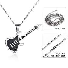 guitar pendant necklace images Rock on quot guitar pendant necklace my thingz jpg