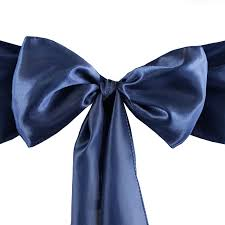 50 pcs new satin chair sash bows ties wedding decorations free