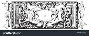 ornament renaissance sculpture vintage engraved illustration stock