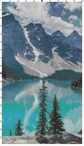 banff national park lake louise alberta canada cross stitch