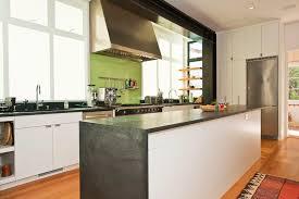 painted glass backsplash kitchen contemporary with bathtub black
