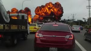 fiery small plane crash caught on dramatic dash cam video