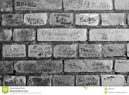 home design brick wall graffiti black and white window