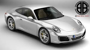 porsche white 2017 porsche 911 carrera 2017 3d model vehicles 3d models car 3ds max