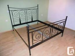 Ikea Buy Or Sell A Ikea Metal Bed Metal Bed Frame Amazing Black Metal Bed About Remodel