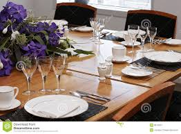 Formal Dining Table by Formal Dining Table Set Up Stock Images Image 8914324