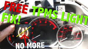 subaru low tire pressure light fix your subaru wrx sti tpms sensor light for free youtube