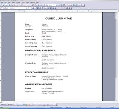 Curriculum Vitae Template Microsoft Word Resume Template For Word 2007 Resume Template U0026 Professional Resume