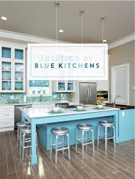 White Blue Kitchen Inspired By Blue Cabinets U0026 Tile Pencil Shavings Studiopencil
